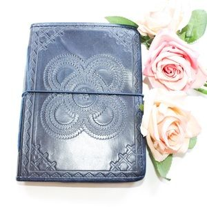 Handmade Faux Leather Etched Blank Journal